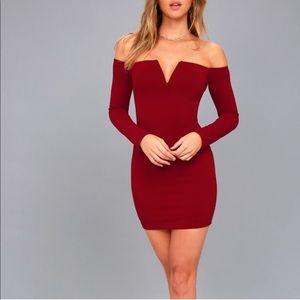 NWT Wine Lulus Dress